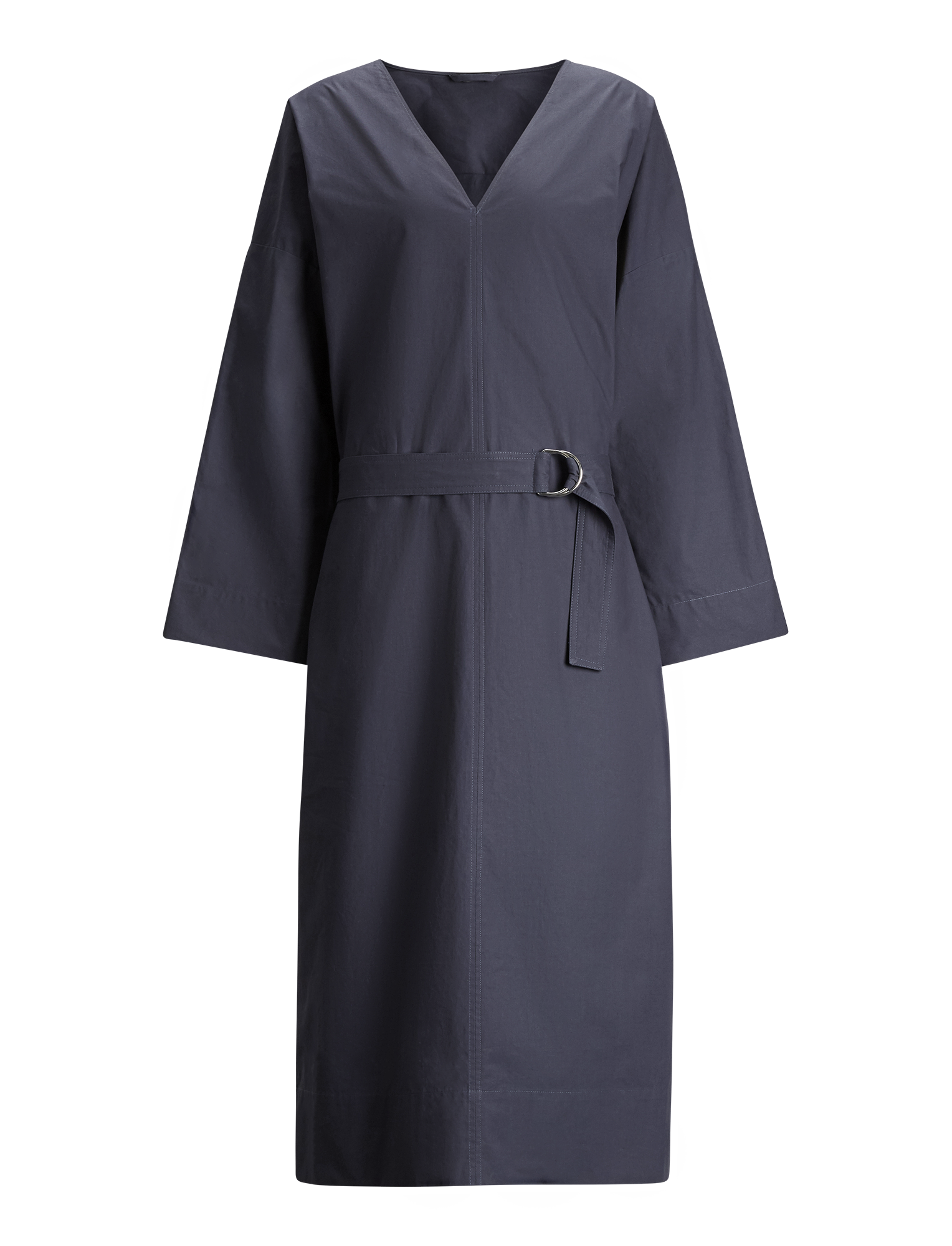 Joseph, Etta Cotton Poplin Dress, in NAVY
