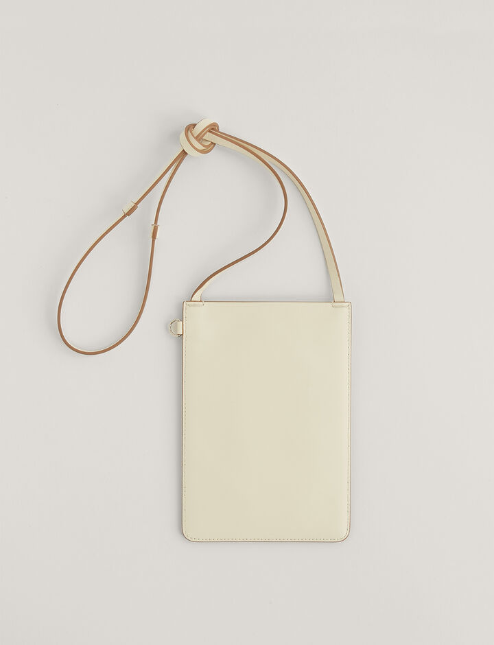 Joseph, Pochette S-Leather, in OFF WHITE