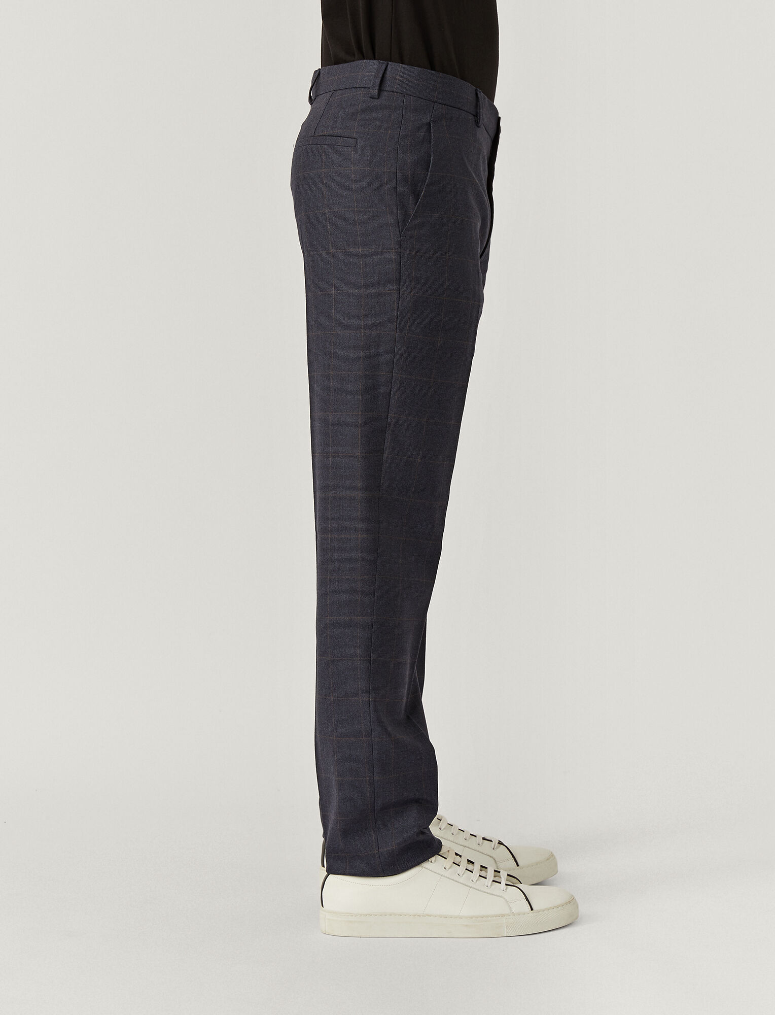 Joseph, Pantalon Jack en flanelle stretch, in NAVY