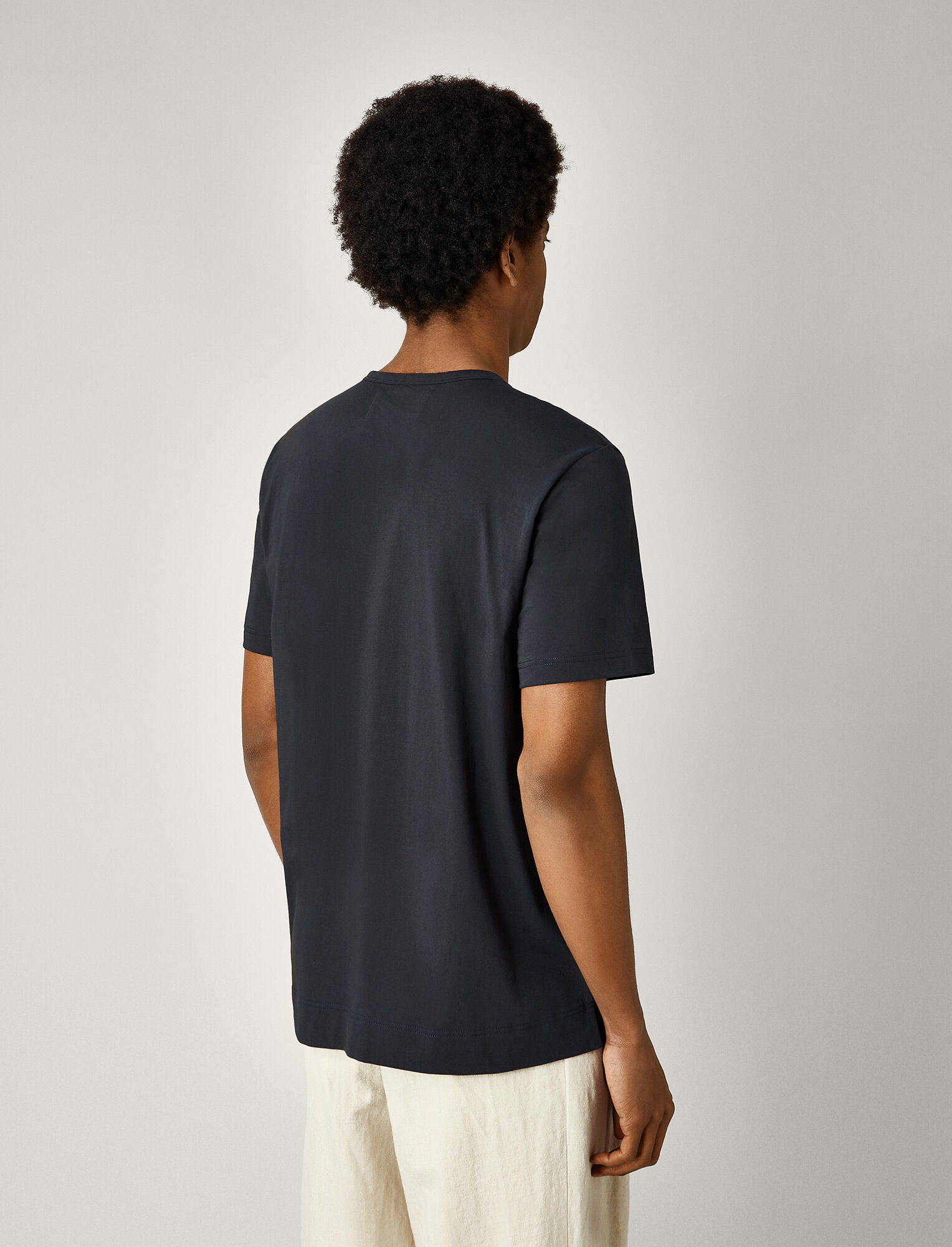 Joseph, Mercerized Jersey Tee, in NAVY
