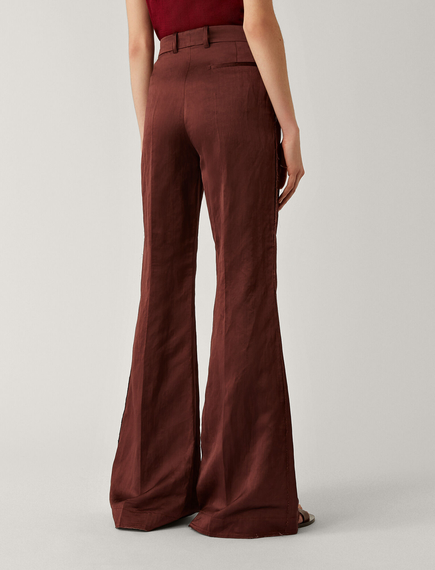 Joseph, Tana Chintz Trousers, in MERLOT