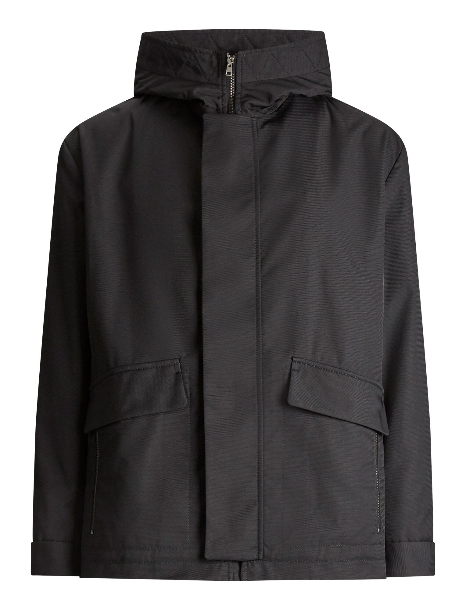Joseph, Aspin Textured Nylon Coat, in BLACK