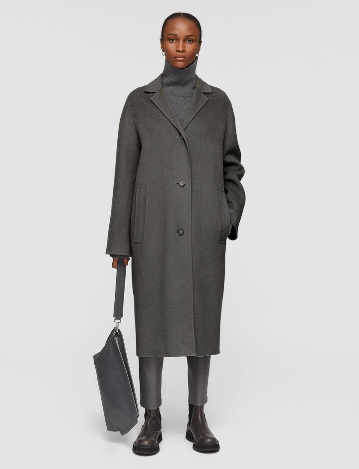 Joseph, Double Face Cashmere Caia Coat, in NICKEL
