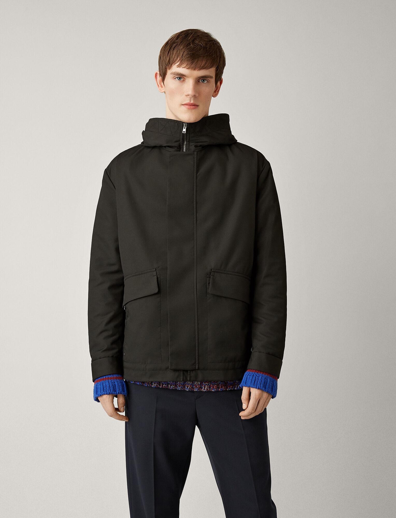Joseph, Aspin Textured Nylon Coat, in BLACK
