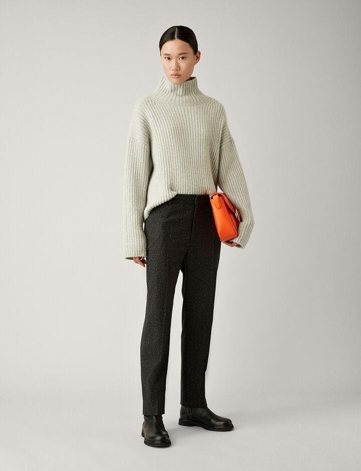 Joseph, Coman Tweed Trousers, in BLACK