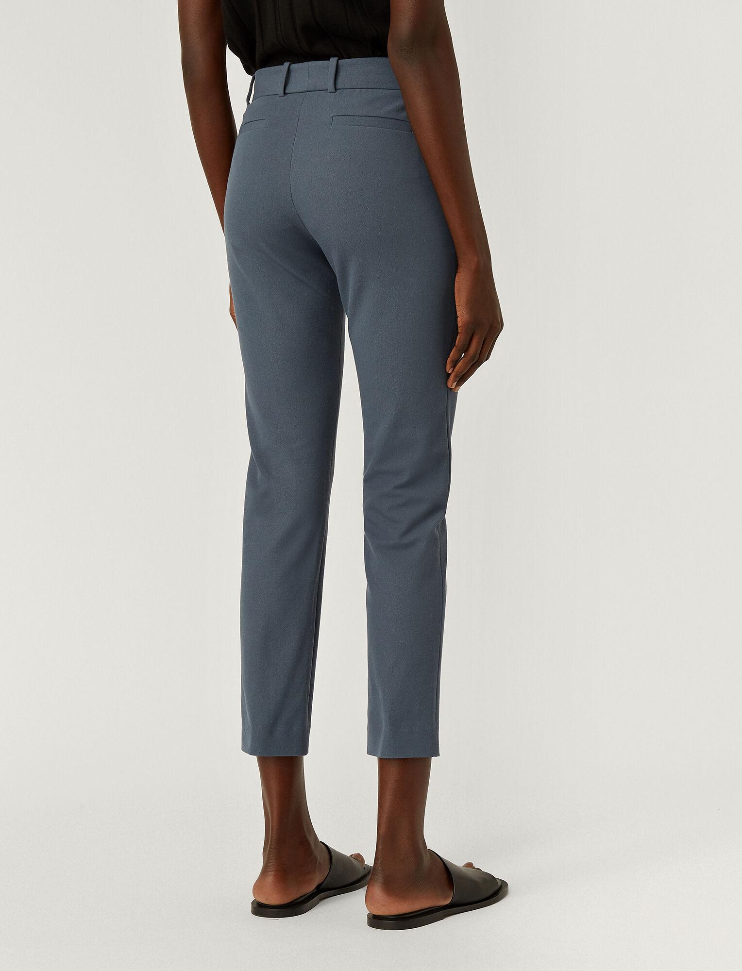 Joseph, Gabardine Stretch New Eliston Trousers, in BLUE STEEL