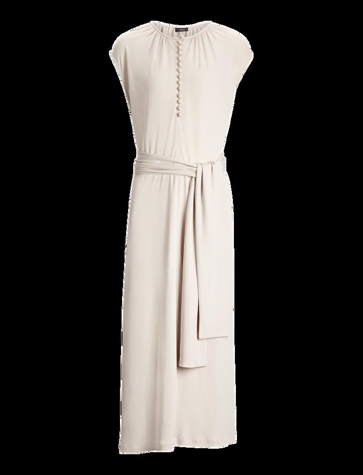 Joseph, Romy Crepe Jersey Dress, in OYSTER