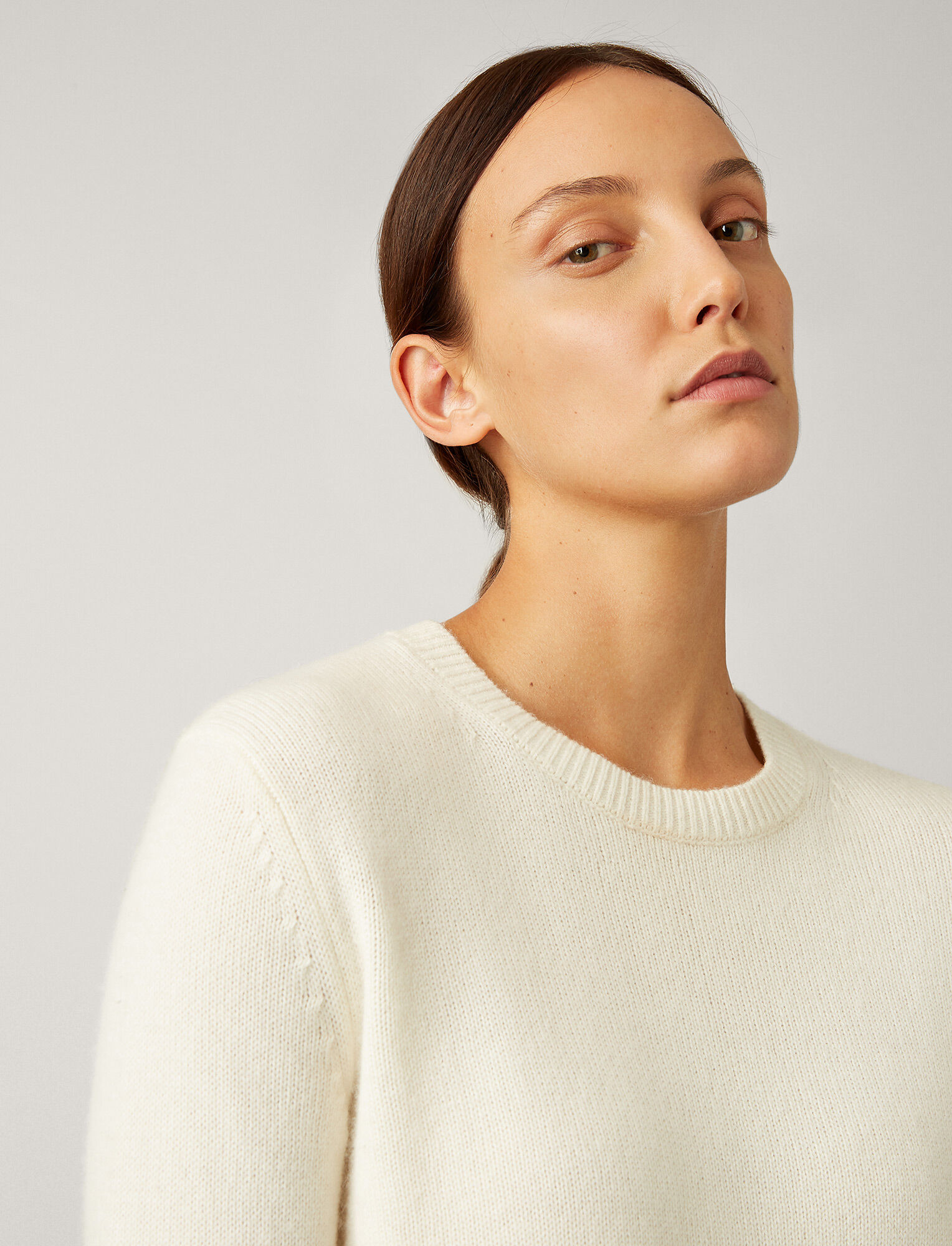 Joseph, Pure Cashmere Knit, in CREAM