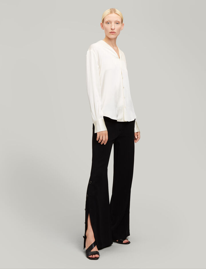 Joseph, Barry Viscose Cady Trousers, in BLACK