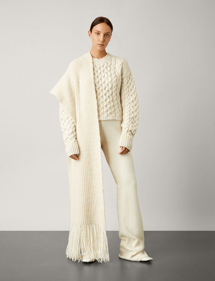 Joseph, Cable Mix Knit, in IVORY