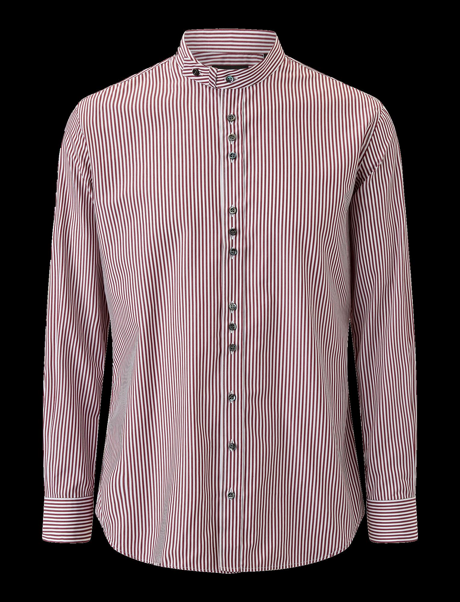 Joseph, Jarvis Cupro Pinstripes Mix Shirts, in GARNET