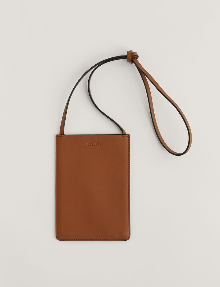 Joseph, Pocket bag-Leather, in RUST