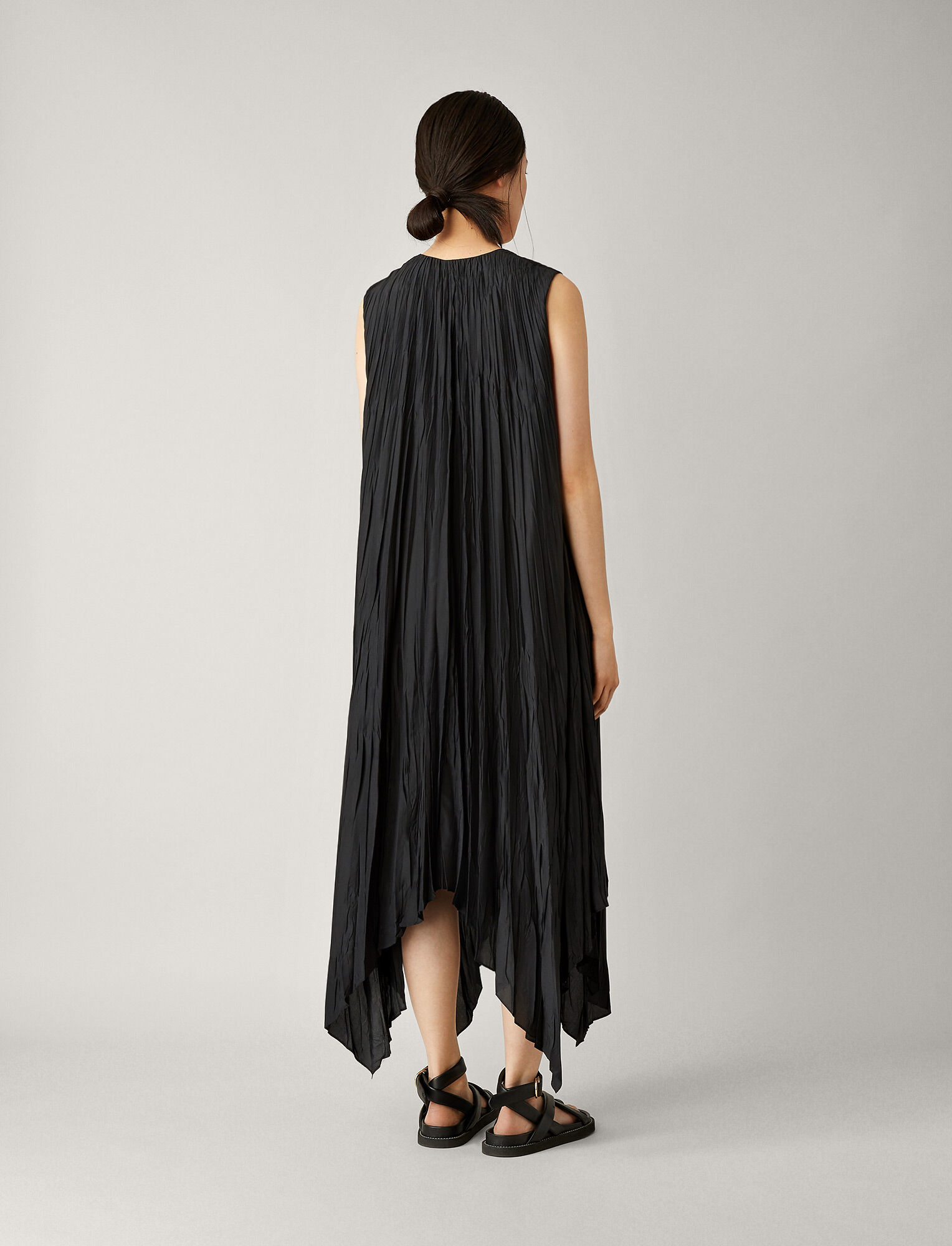 Joseph, Checker Silk Habotai Dress, in BLACK