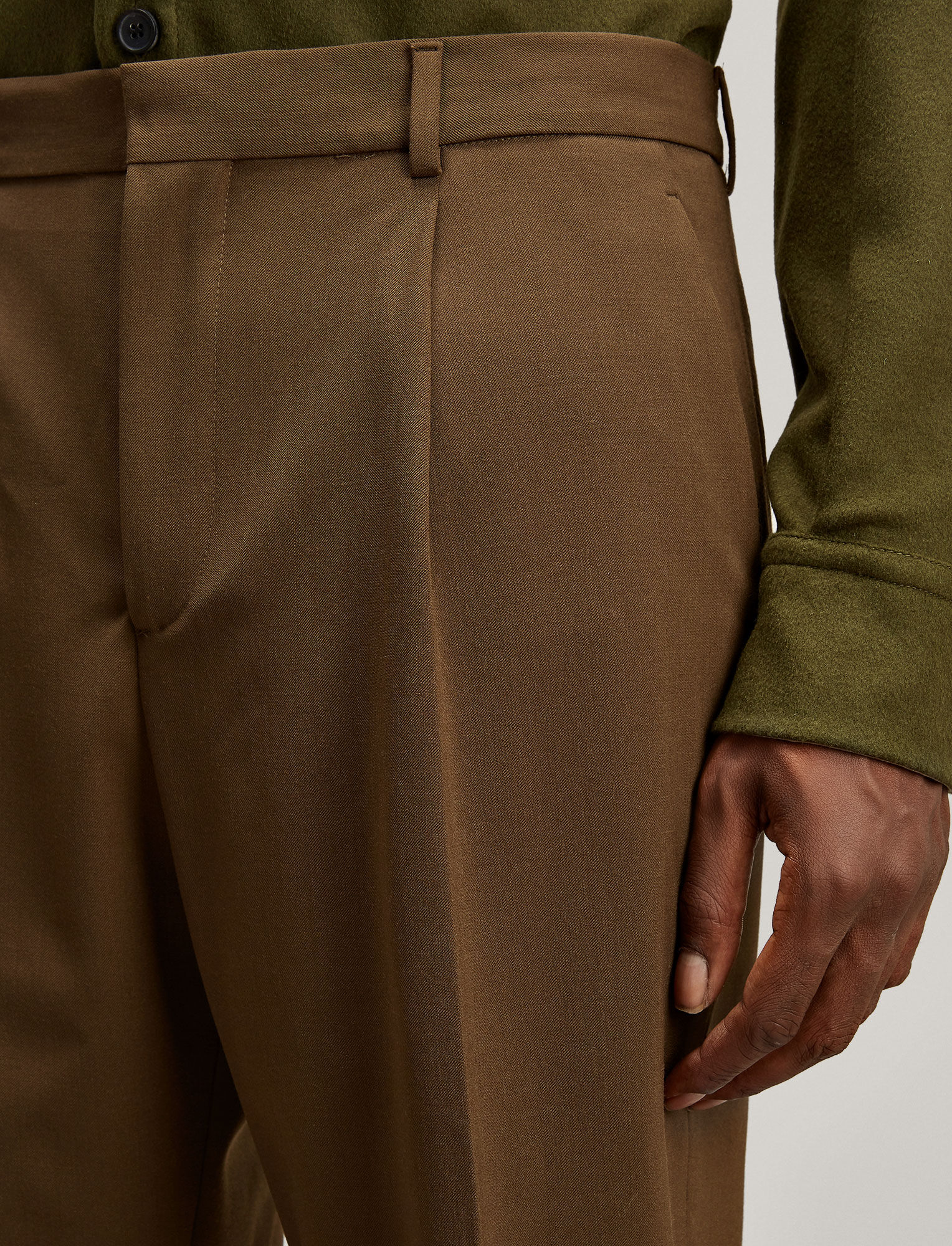 Joseph, Emile Techno Wool Stretch Trousers, in MILITARY