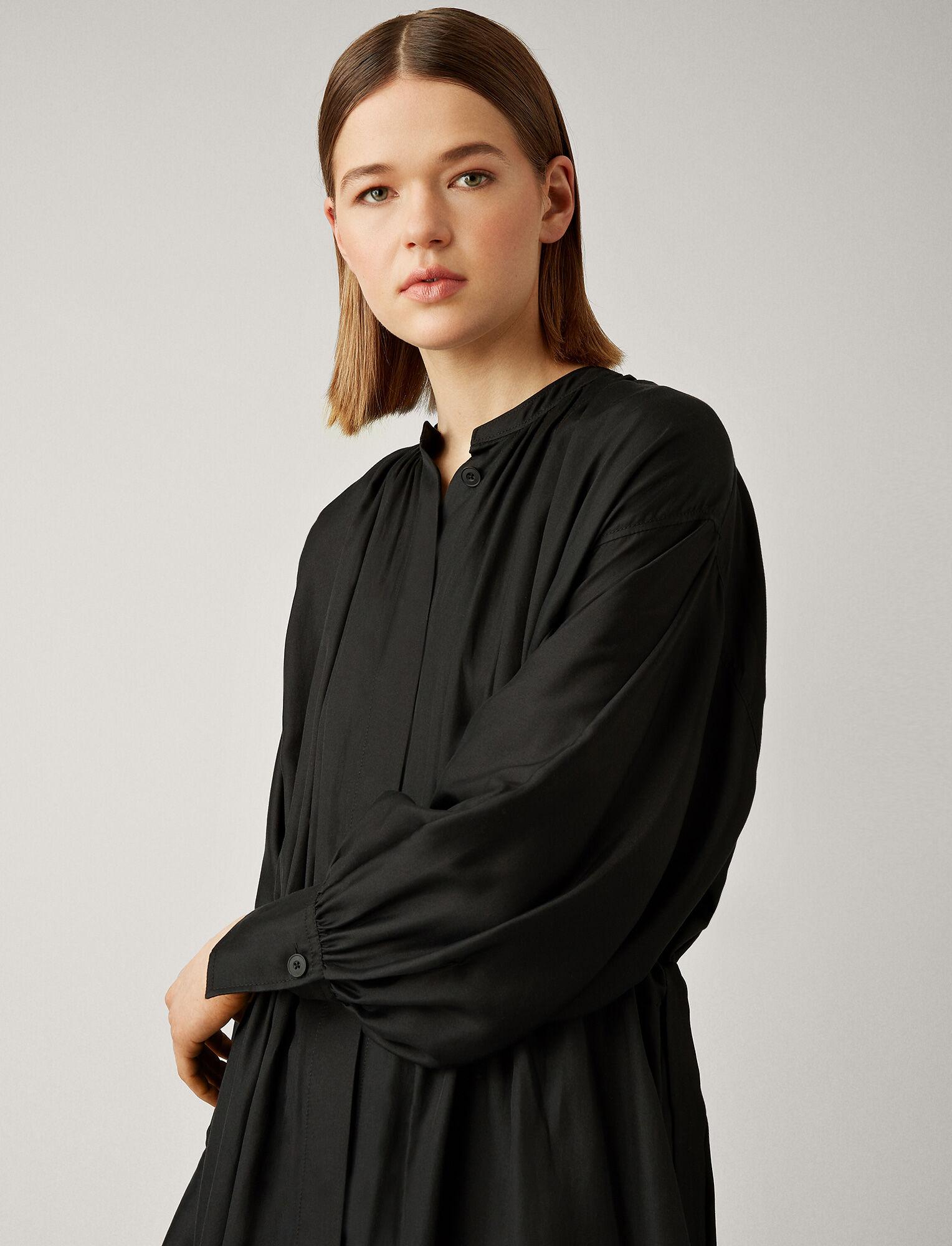 f489ca7dcda8 ... Joseph, Rafael Cotton Silk Shirting Dress, in BLACK