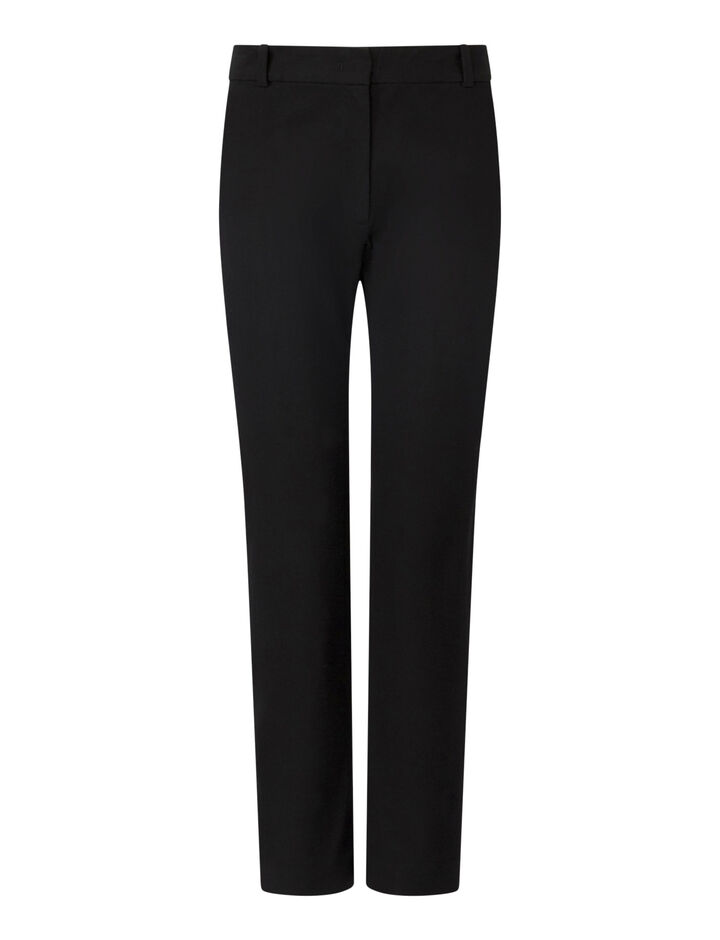 Joseph, New Eliston Gabardine Stretch Trousers, in BLACK