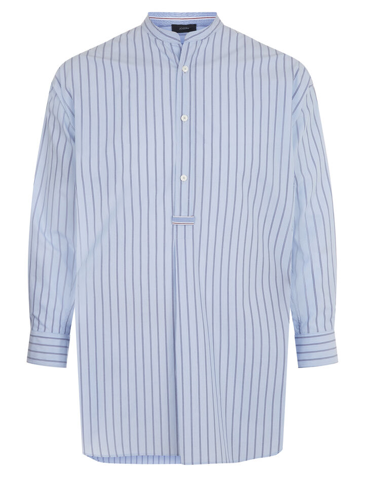 Joseph, Edwin Colour Stripe Shirt, in BLUE