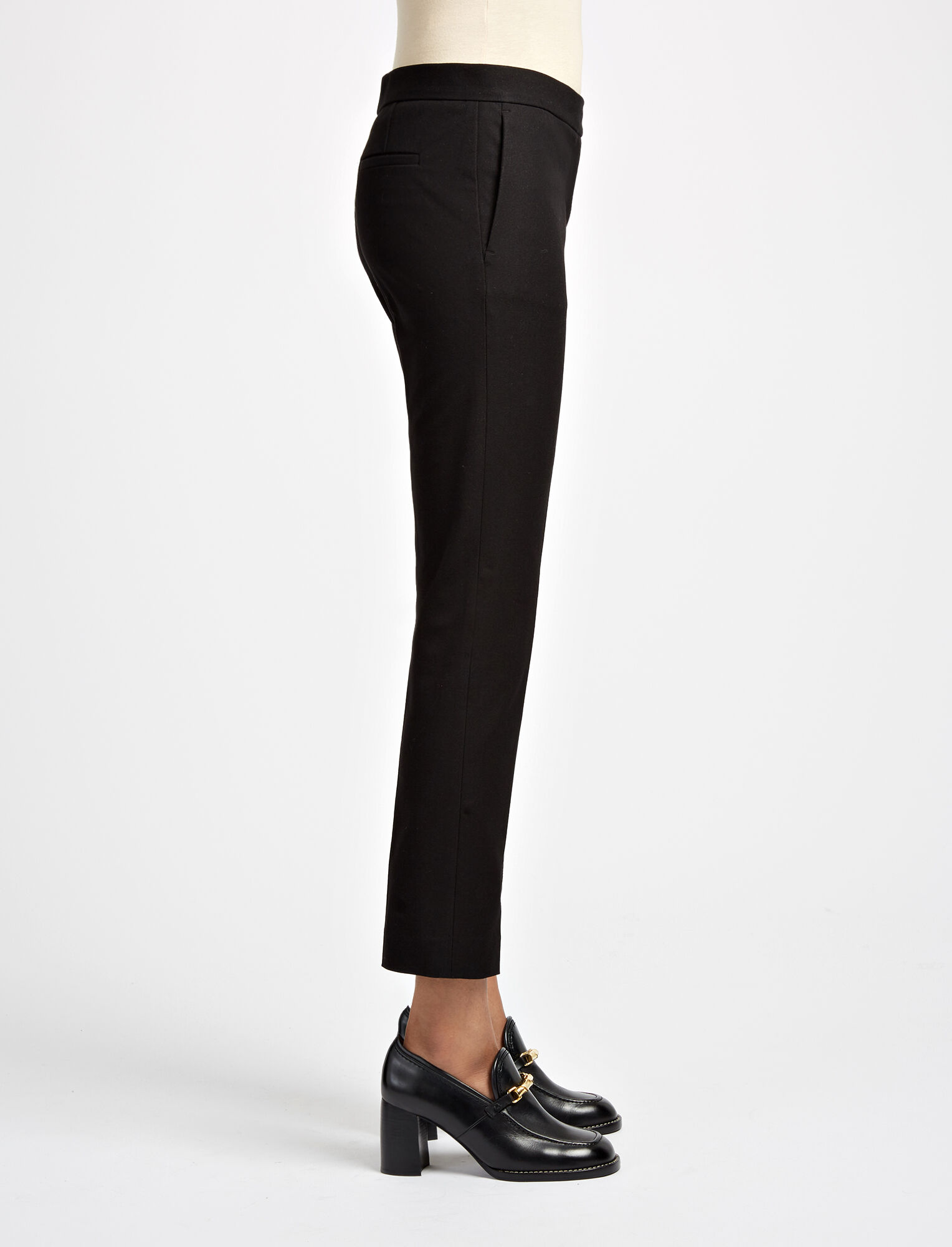 Joseph, Gabardine Stretch Finley Trousers, in BLACK