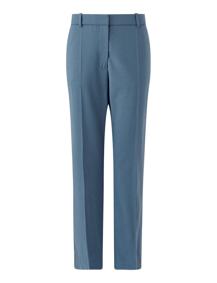 Joseph, Tape-Light Wool Suiting, in BLUE STEEL