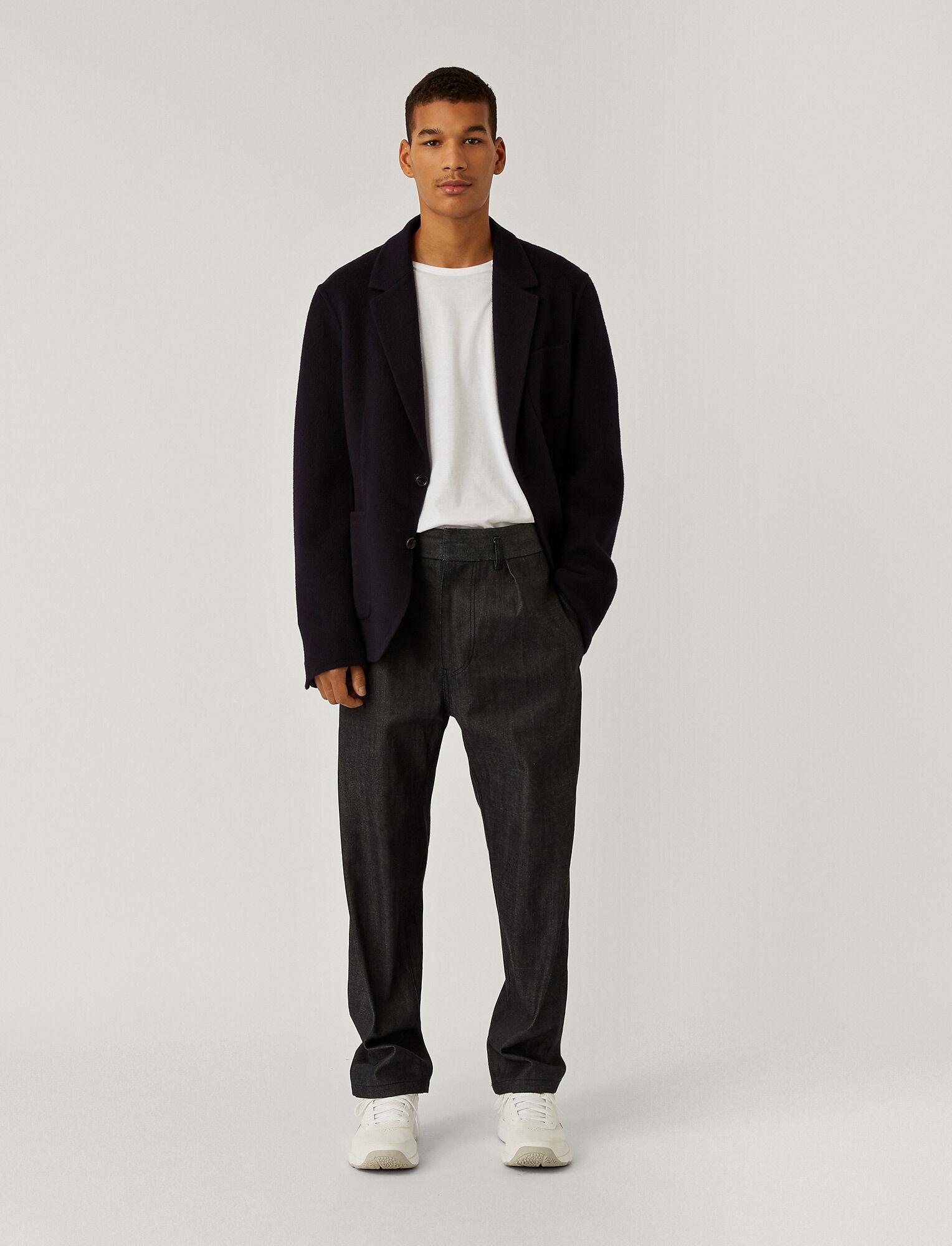 Joseph, Pantalon Officer en selvedge bio, in NAVY