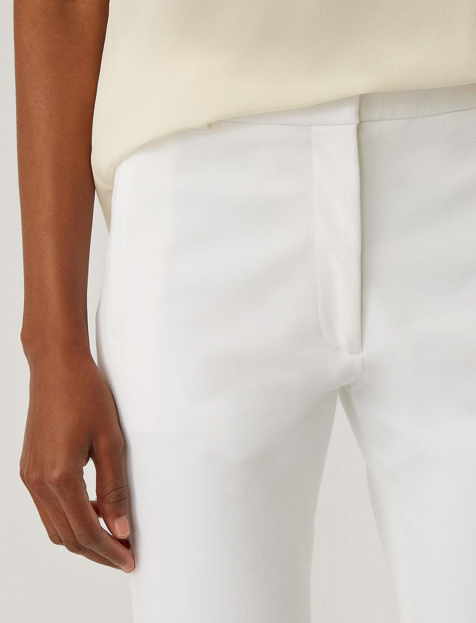 Joseph, Pantalon New Elliston en gabardine stretch, in WHITE