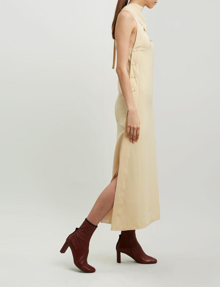 Joseph, Ceil Fluid Twill Dress, in BUTTER