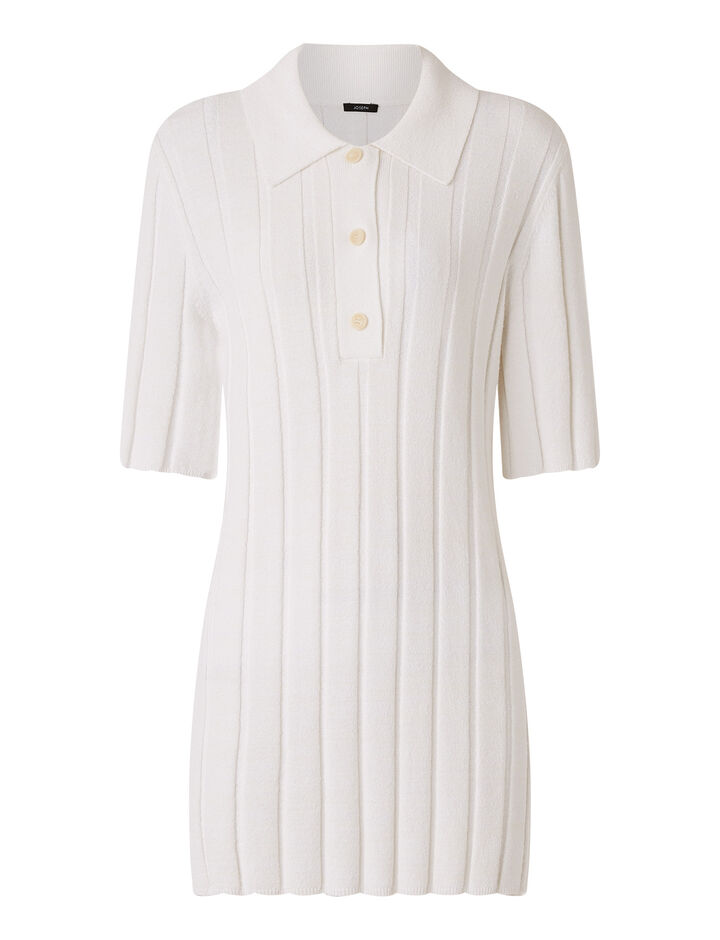 Joseph, Polo-Textured Rib, in OFF WHITE