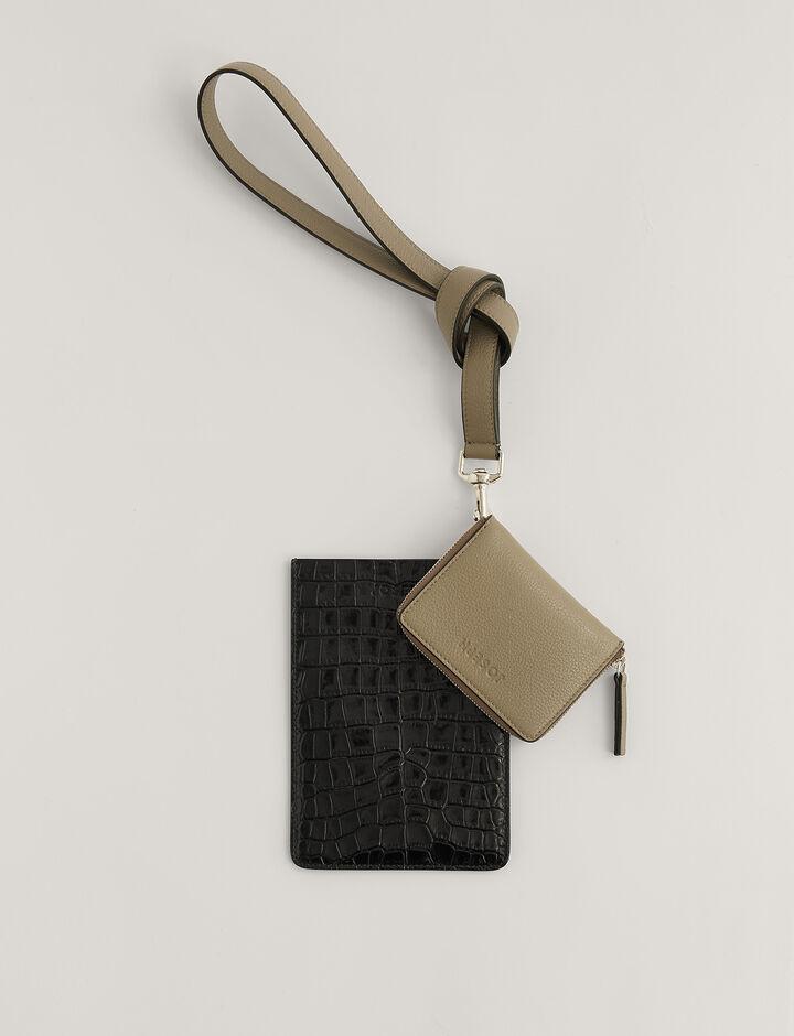 Joseph, Multi Pocket Bag Leather , in Grey