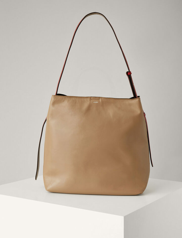 Joseph, Nappa Leather Pimlico Bag, in BEIGE