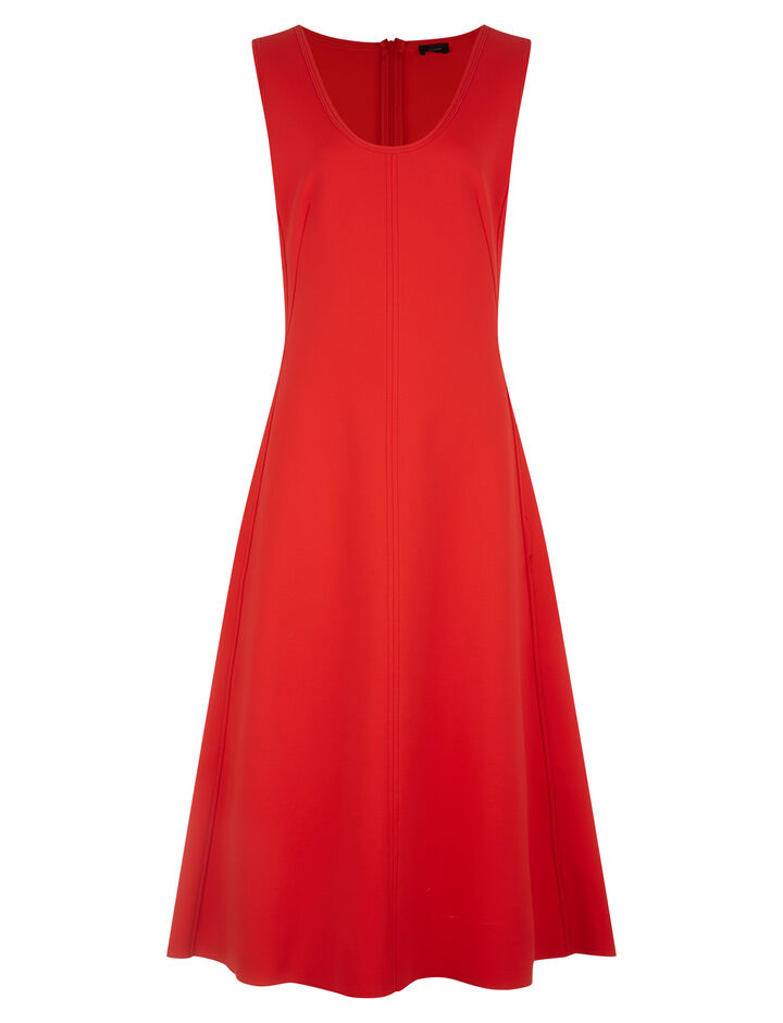 Joseph, Lina Super Stretch Dress, in TOMATO
