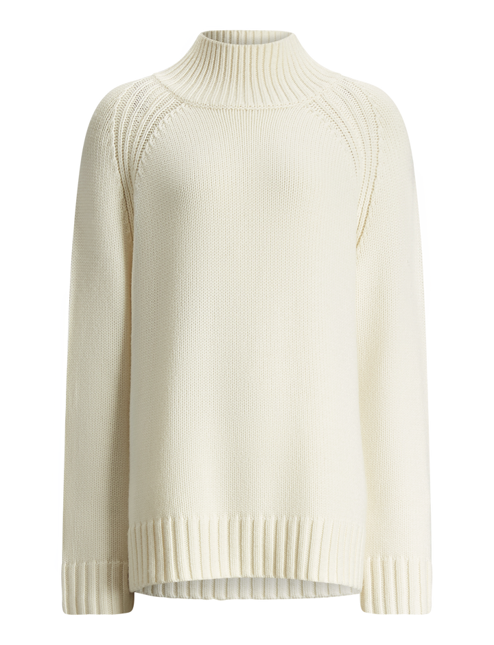 Joseph, High Neck Sloppy Joe Knit, in CREAM