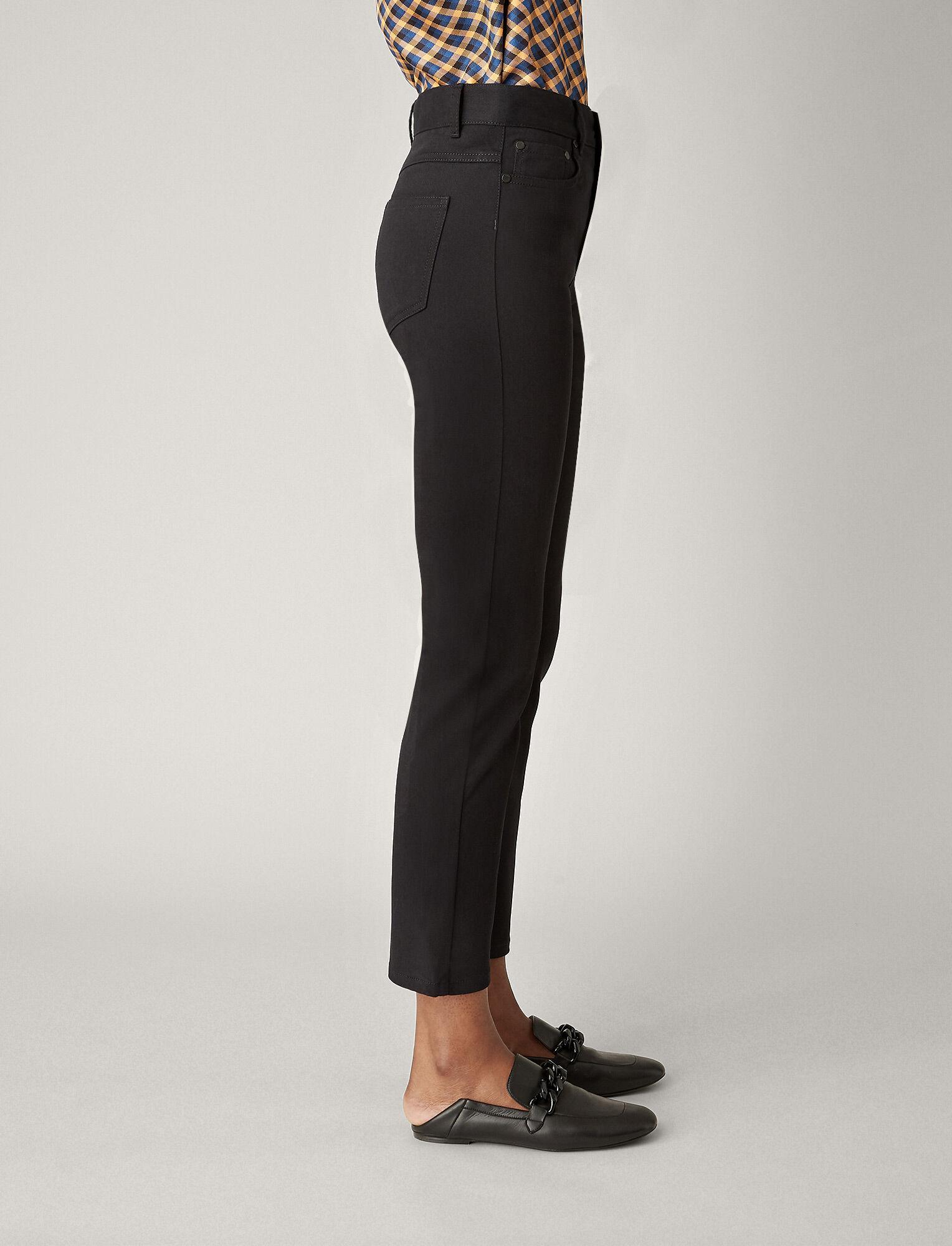 Joseph, Pantalon Den en denim noir, in BLACK