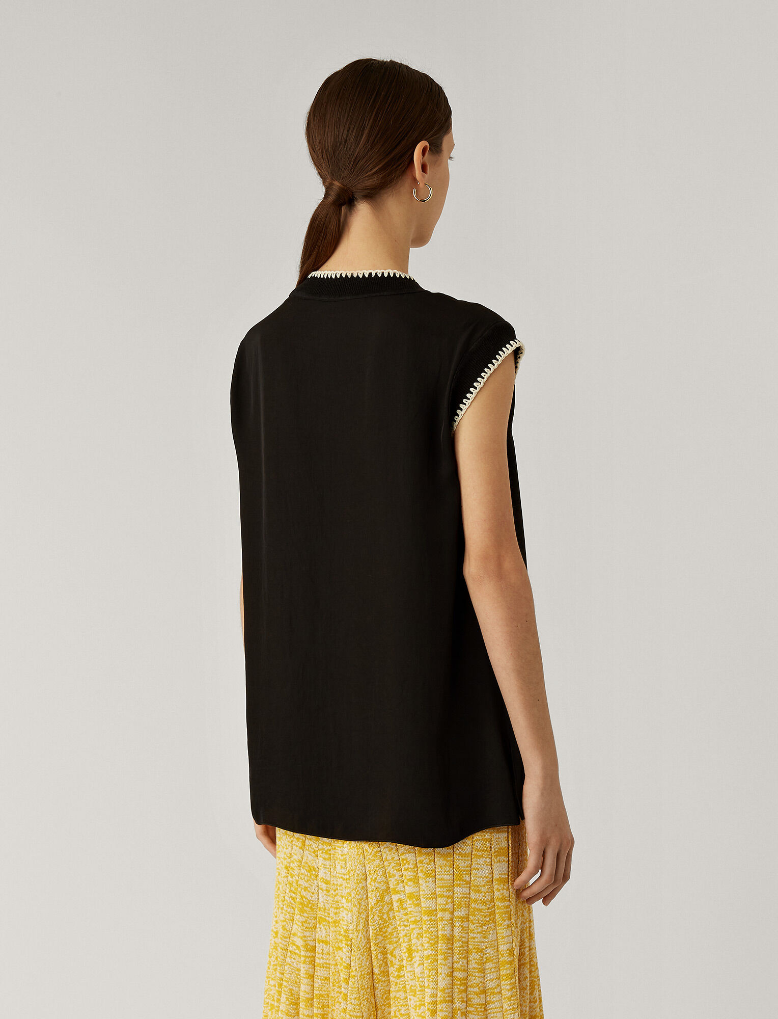 Joseph, Bo Washed Twill Blouse, in BLACK