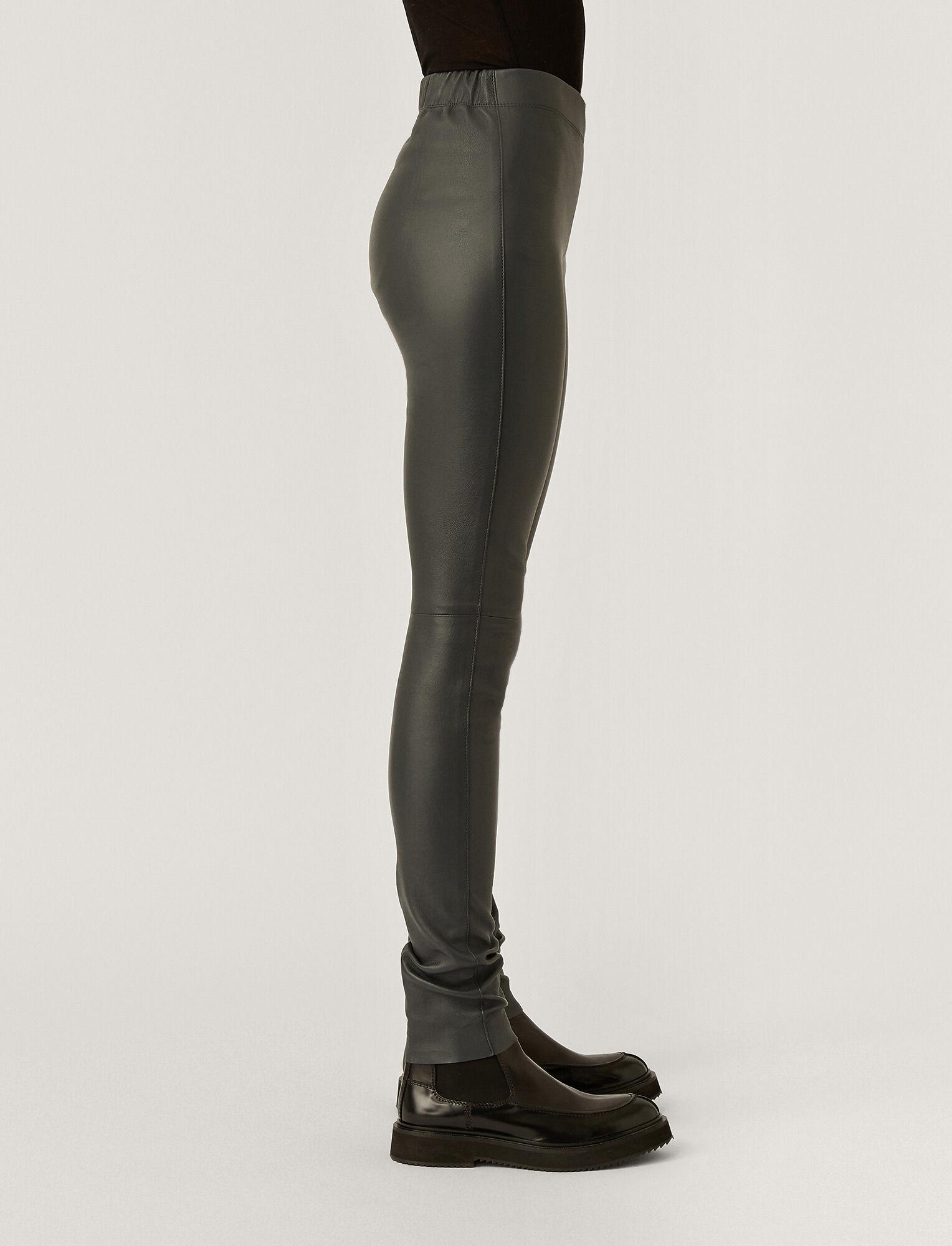 Joseph, Leather Stretch Leggings, in ANTHRACITE