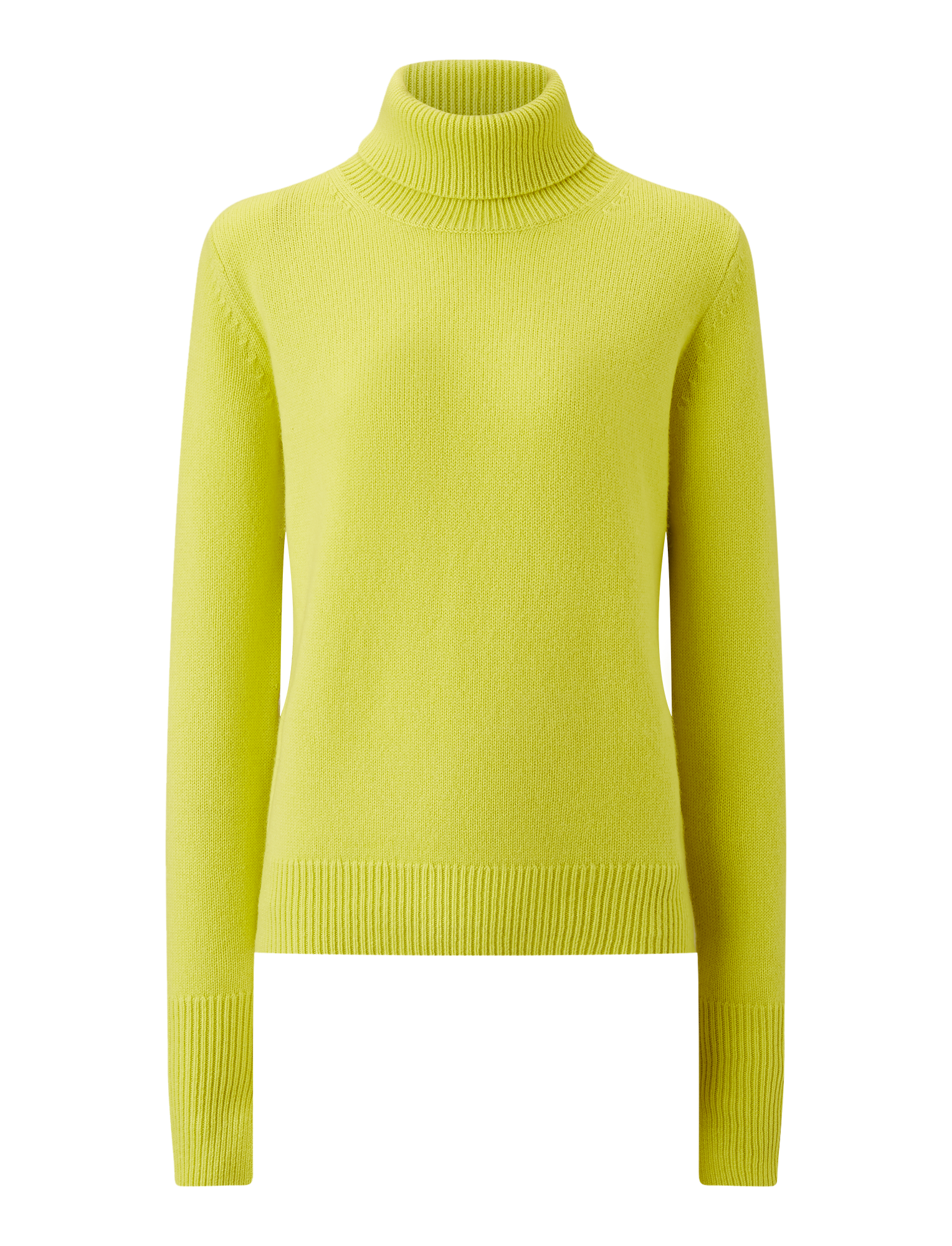 Joseph, High Neck Pure Cashmere Knit, in LIME