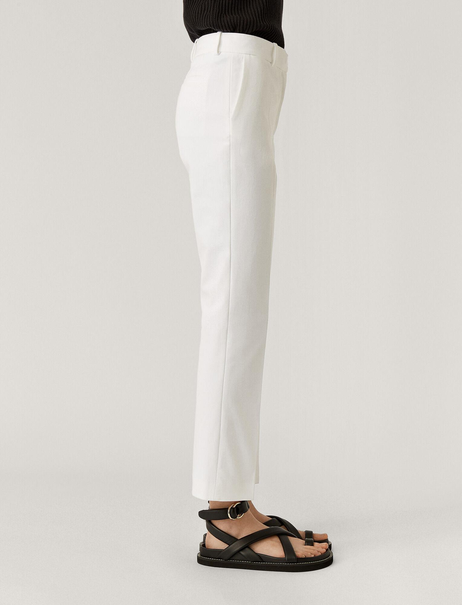 Joseph, Coleman Gabardine Stretch Trousers, in WHITE