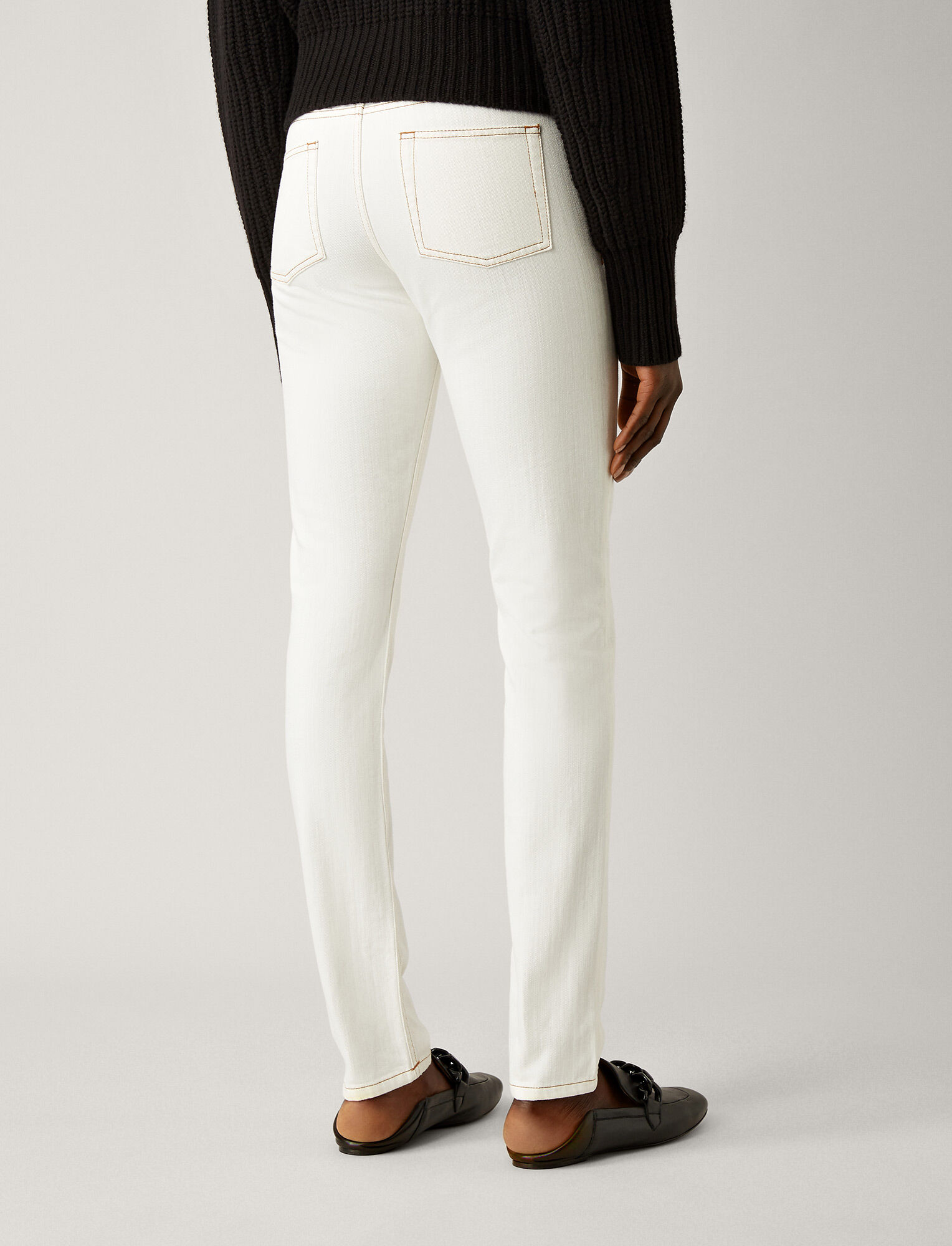 Joseph, Pantalon Cloud en denim blanc, in WHITE