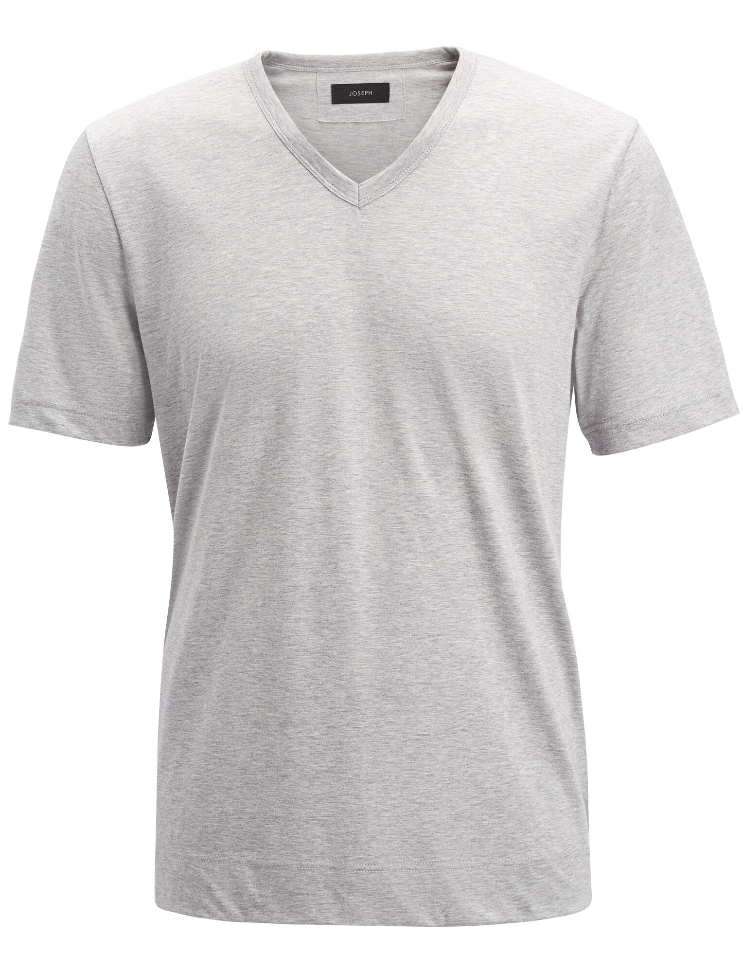 Joseph, Mercerized Jersey V Neck Tee, in CONCRETE