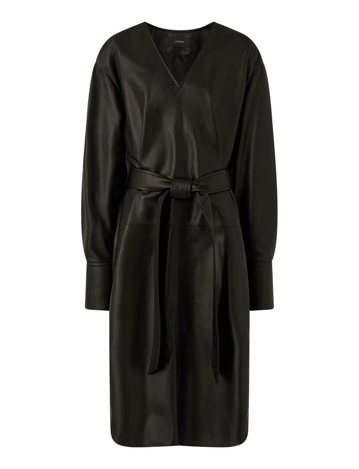 Joseph, Dahlia-Nappa Leather, in BLACK