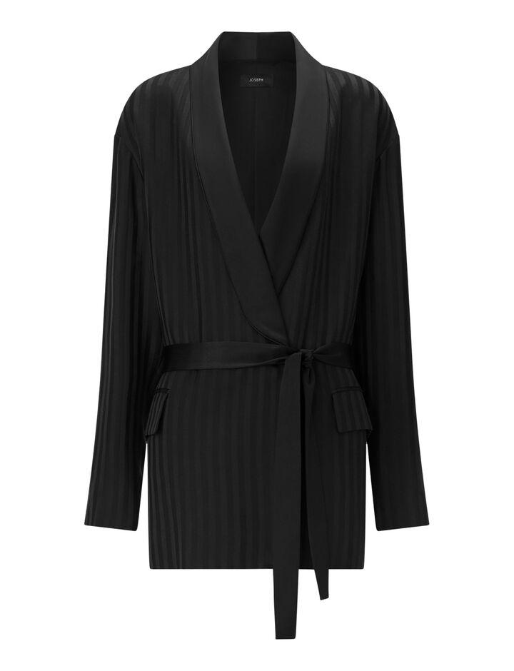 Joseph, Nash-Pyjama Silk Jacquard, in BLACK