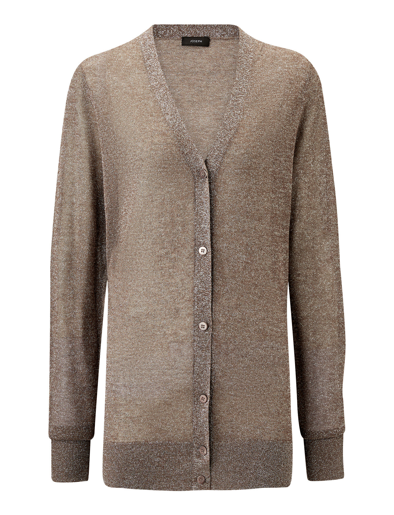 Joseph, Cardigan Lurex Knit, in QUARTZ