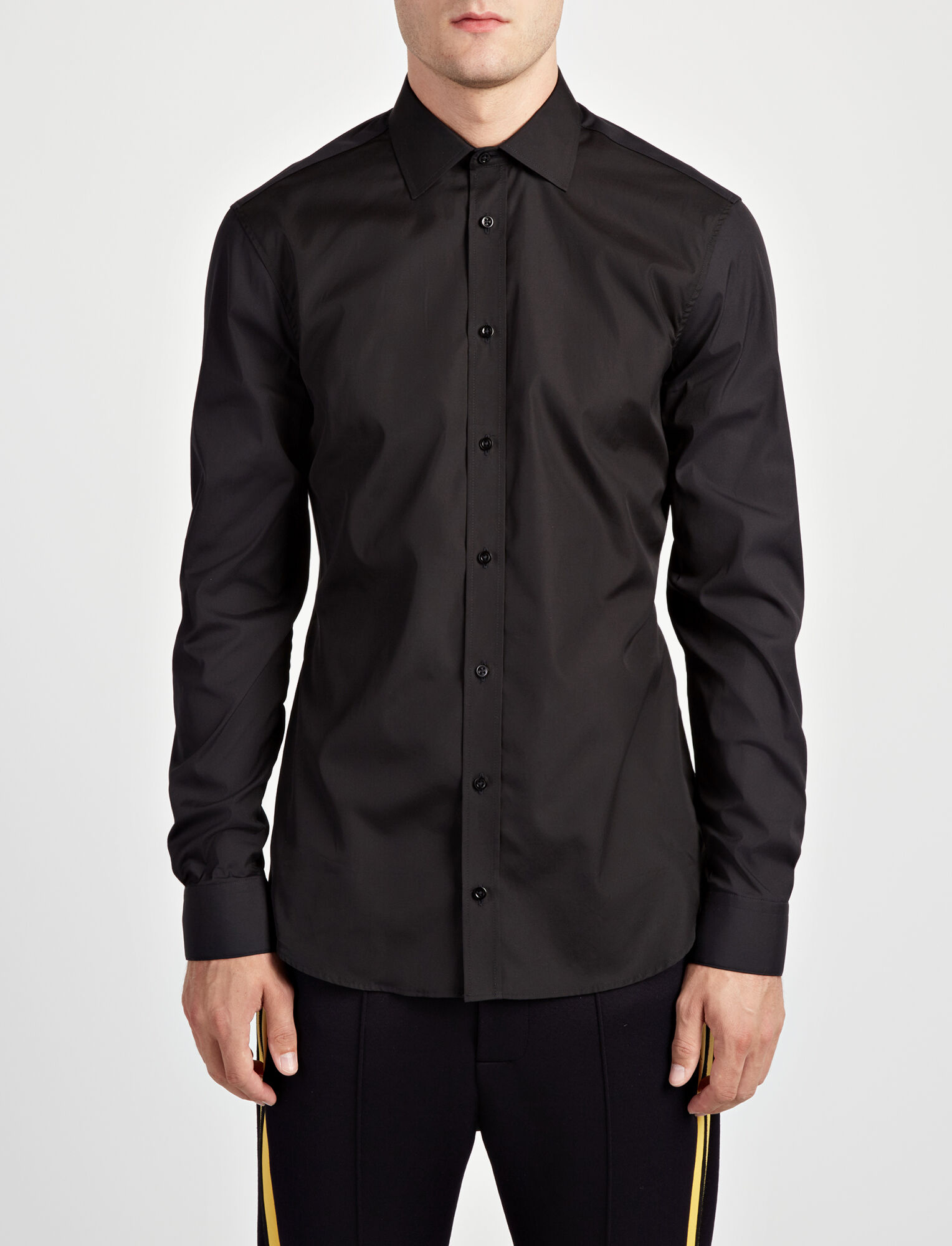 Joseph, Chemise Cecile en popeline stretch, in BLACK