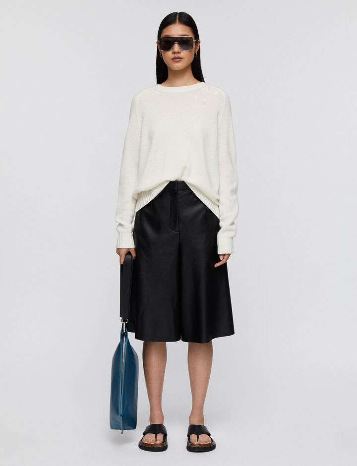 Joseph, Rd Nk Ls-Open Cashmere, in IVORY
