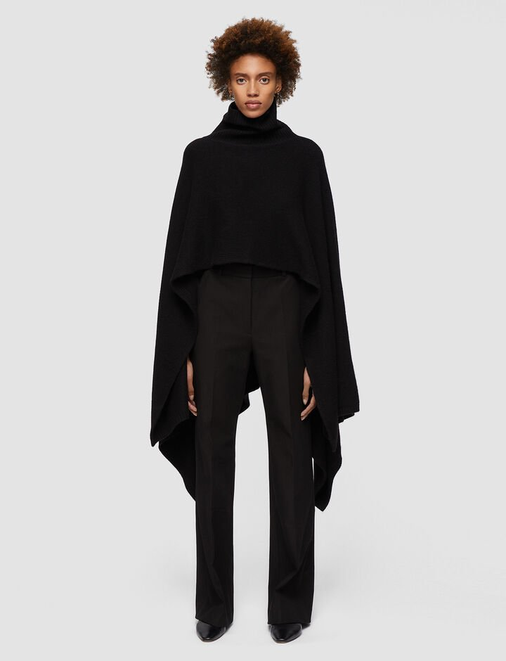 Joseph, Poncho Luxe Cashmere Knitwear, in Black