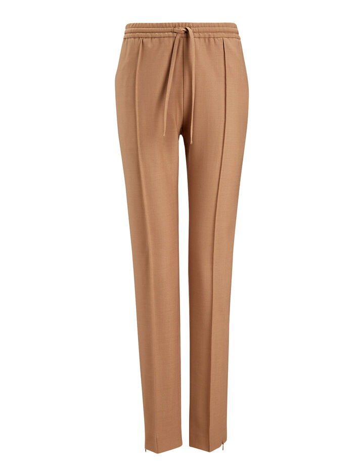 Joseph, New Dallas Comfort Wool Trousers, in DARK CAMEL