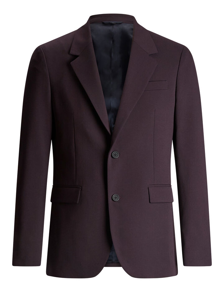 Joseph, Cattiau Techno Wool Stretch Jacket, in BURGUNDY