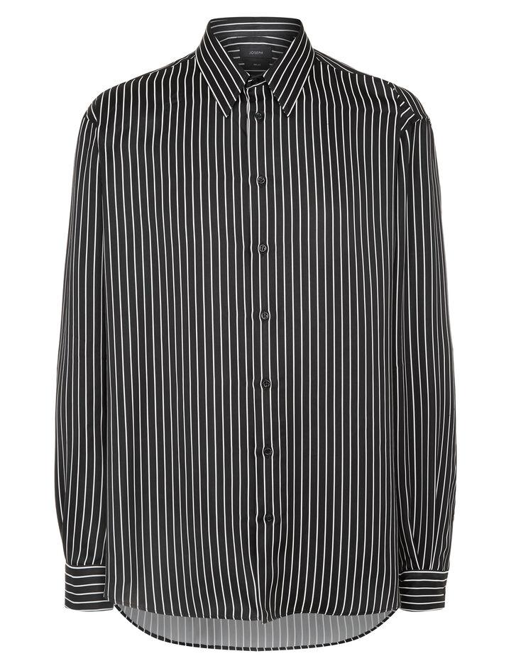 Joseph, Martin Graphic Stripes Shirt, in BLACK