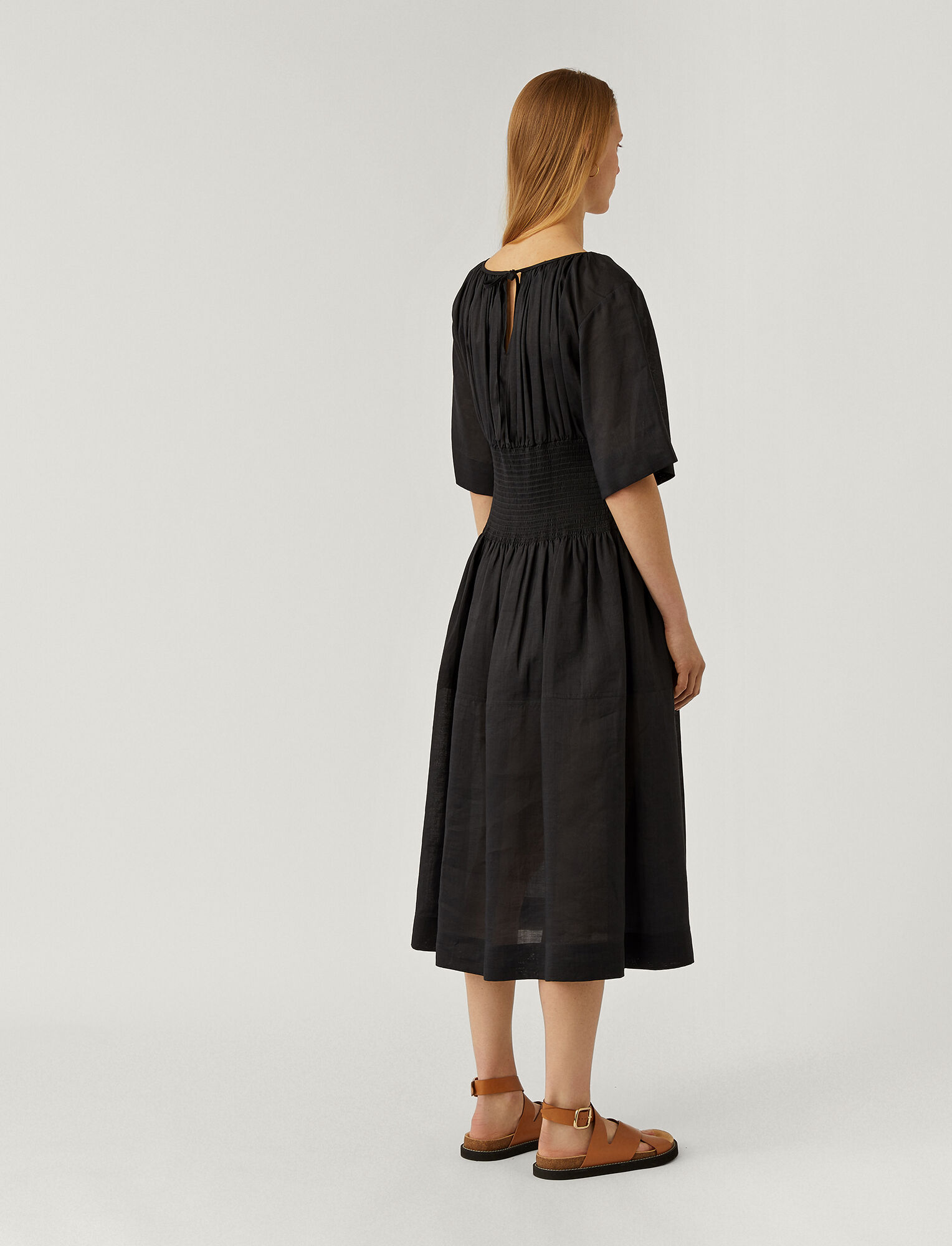 Joseph, Ramie Voile Daison Dress, in BLACK