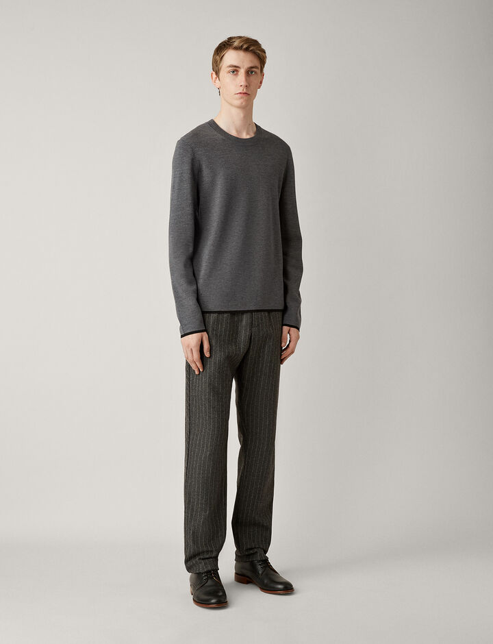 Joseph, Fine Milano Knit, in CHARCOAL