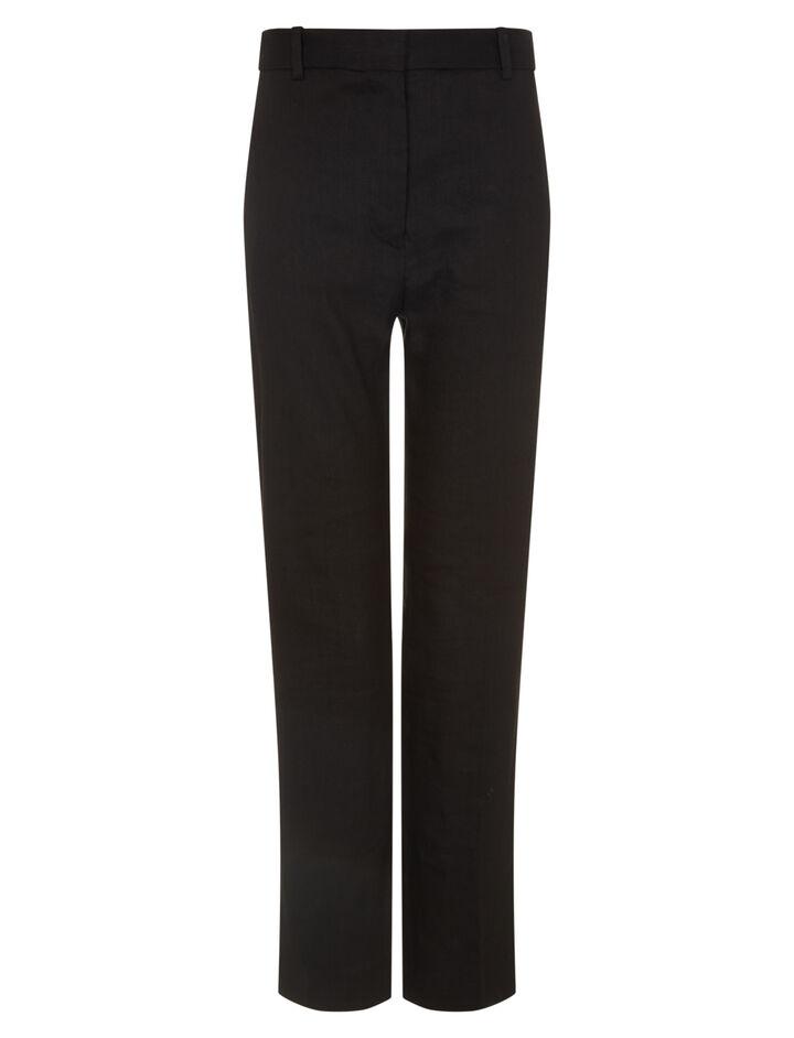 Joseph, Zoom Linen Stretch Trousers, in BLACK